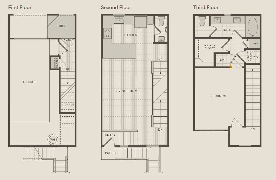 984 sq. ft. A1 floor plan