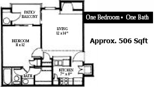 506 sq. ft. floor plan
