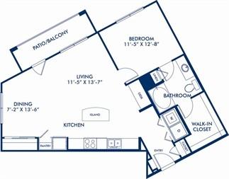 908 sq. ft. Watson floor plan