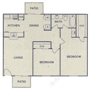 748 sq. ft. floor plan