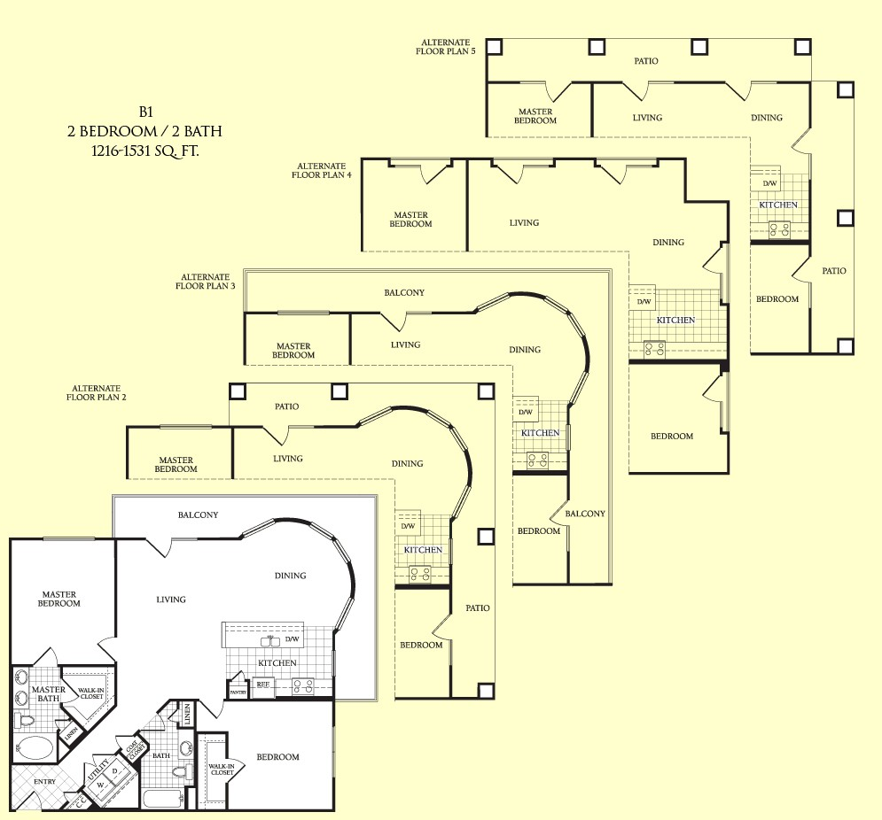 1,216 sq. ft. Grayton floor plan