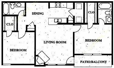 979 sq. ft. floor plan