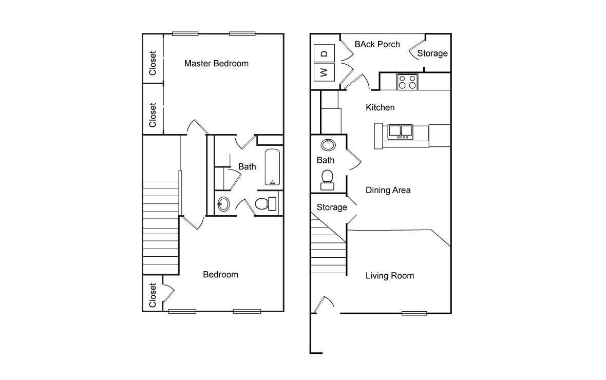 996 sq. ft. 50% floor plan