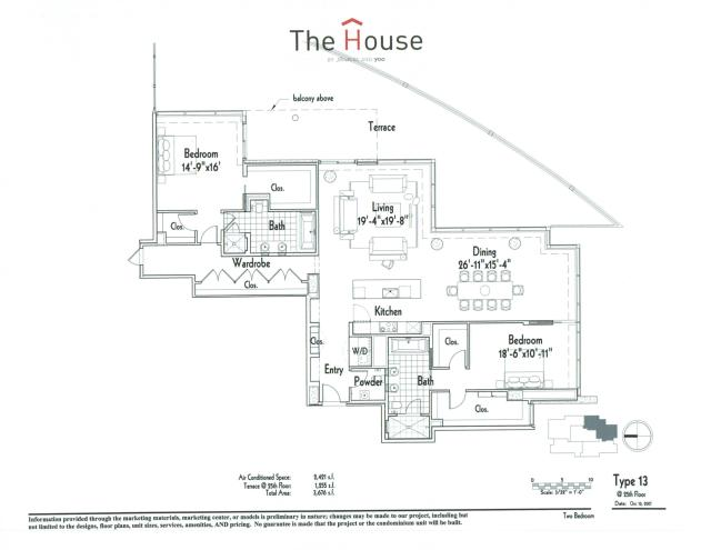 2,421 sq. ft. 13 floor plan