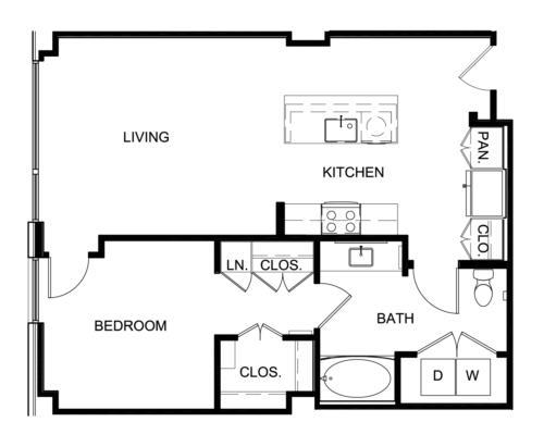 794 sq. ft. A4 floor plan