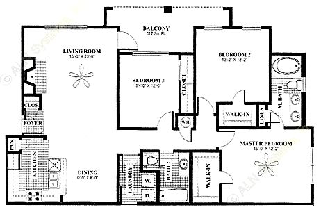 1,355 sq. ft. Solarium floor plan