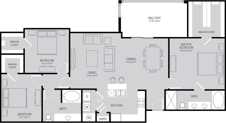 1,532 sq. ft. Steinbeck floor plan