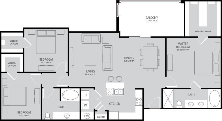 1,532 sq. ft. Steinbeck floor plan