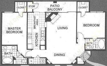 1,209 sq. ft. Brittany floor plan
