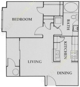 591 sq. ft. City Walk:A1 floor plan