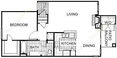 800 sq. ft. A4 floor plan