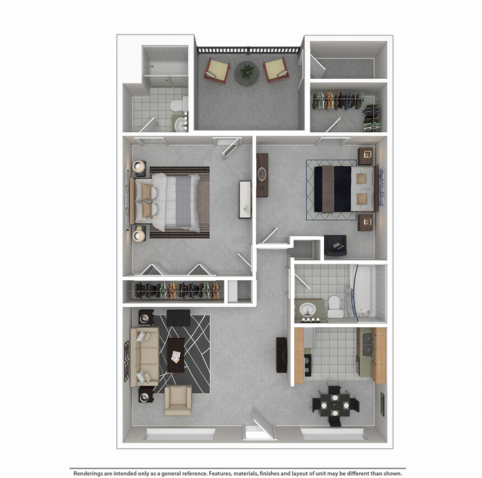 944 sq. ft. floor plan