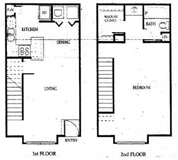 809 sq. ft. 60% floor plan