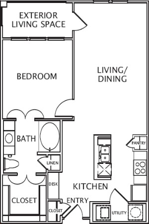 875 sq. ft. Ventura floor plan