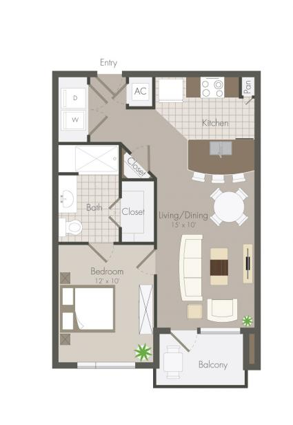597 sq. ft. Asbury floor plan