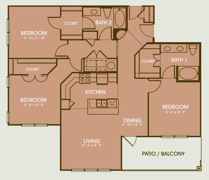 1,582 sq. ft. Camargo floor plan