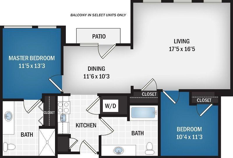 993 sq. ft. Azure floor plan