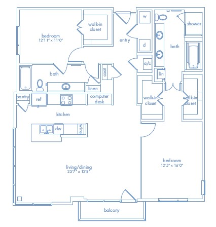 1,565 sq. ft. MATISSE floor plan