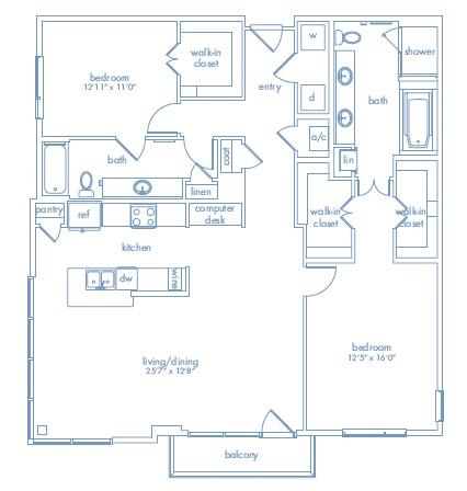 1,565 sq. ft. Matisse floor plan