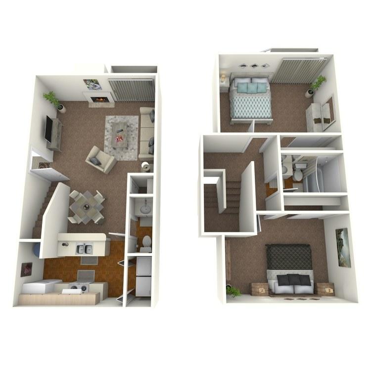 975 sq. ft. floor plan