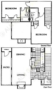 1,170 sq. ft. Barrington floor plan
