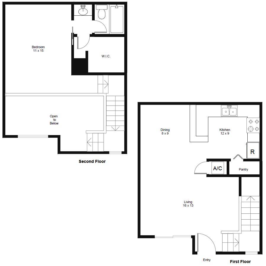 778 sq. ft. A4 floor plan