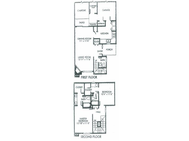 1,252 sq. ft. B floor plan