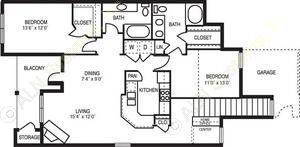 1,311 sq. ft. Fantasia floor plan