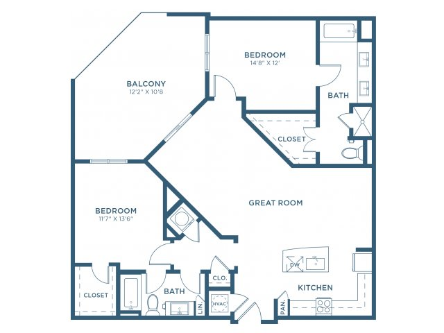1,310 sq. ft. B10 floor plan