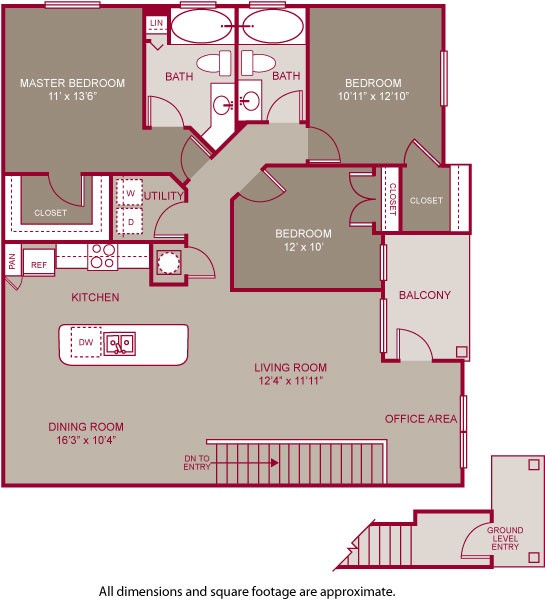 1,397 sq. ft. DEVONSHIRE II floor plan