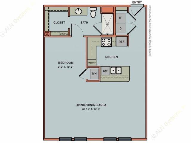 781 sq. ft. 3S4 floor plan