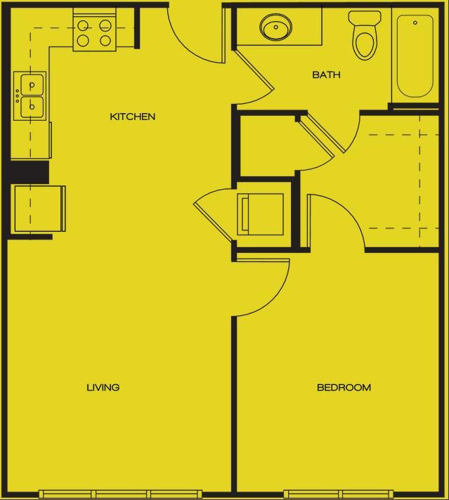 756 sq. ft. MCCULLOCH floor plan