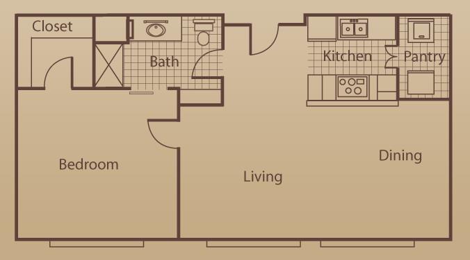 676 sq. ft. to 1,350 sq. ft. floor plan