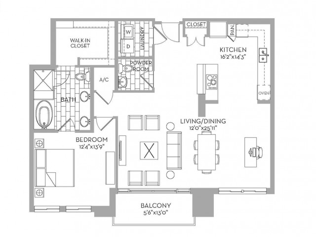 1,279 sq. ft. Preston(A.4) floor plan