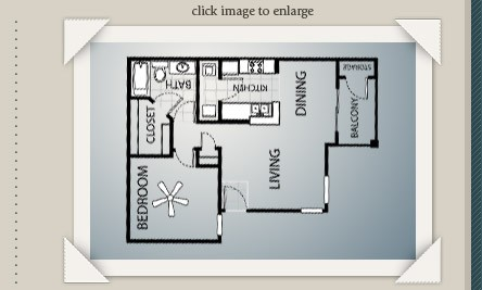 671 sq. ft. A1 floor plan