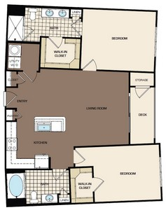1,124 sq. ft. C1a-alt1 floor plan