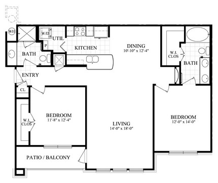 1,191 sq. ft. G floor plan