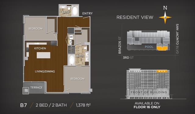 1,378 sq. ft. B7 floor plan