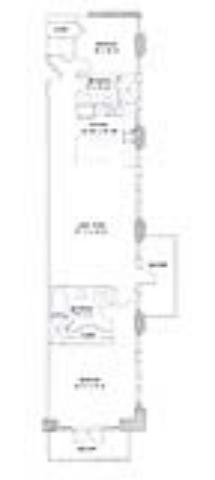 1,240 sq. ft. Oreo floor plan