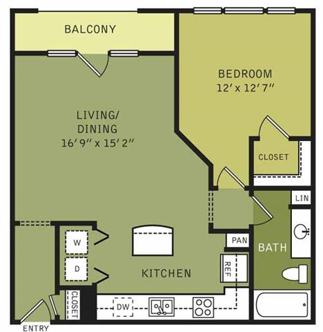 826 sq. ft. floor plan