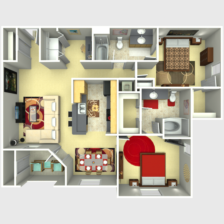 1,088 sq. ft. Legacy floor plan