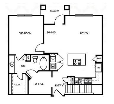 912 sq. ft. A4.1G floor plan