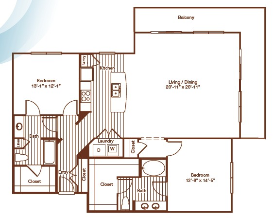 1,481 sq. ft. floor plan
