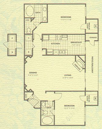 1,209 sq. ft. Biltmore floor plan