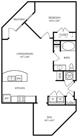 955 sq. ft. A2-Skye floor plan