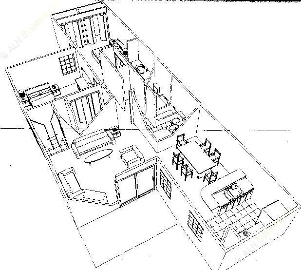 1,076 sq. ft. B1 floor plan