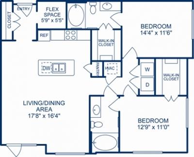 1,185 sq. ft. PROVIDENCE floor plan