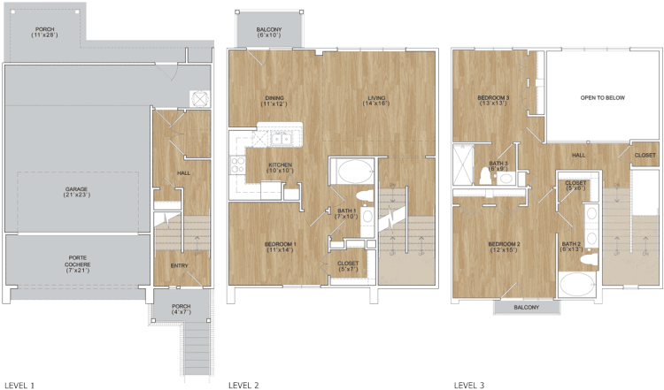 1,691 sq. ft. Kensington floor plan