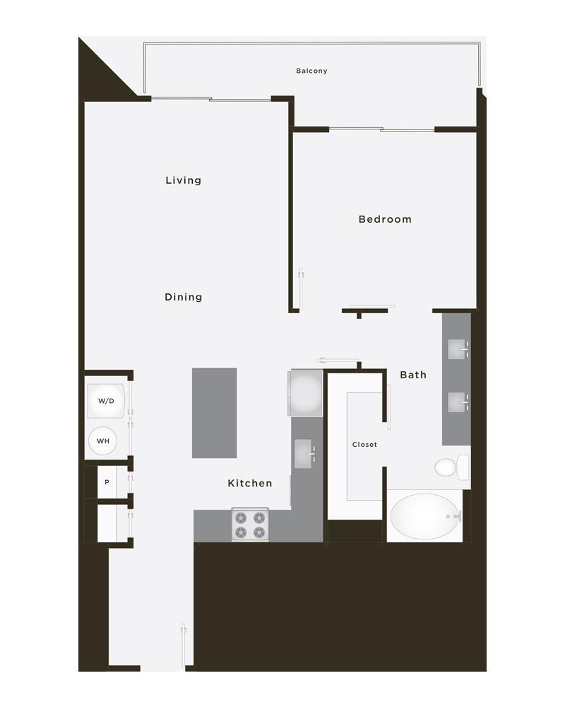 758 sq. ft. Elite floor plan