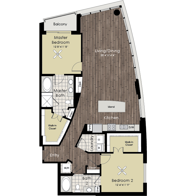 1,634 sq. ft. B10 floor plan